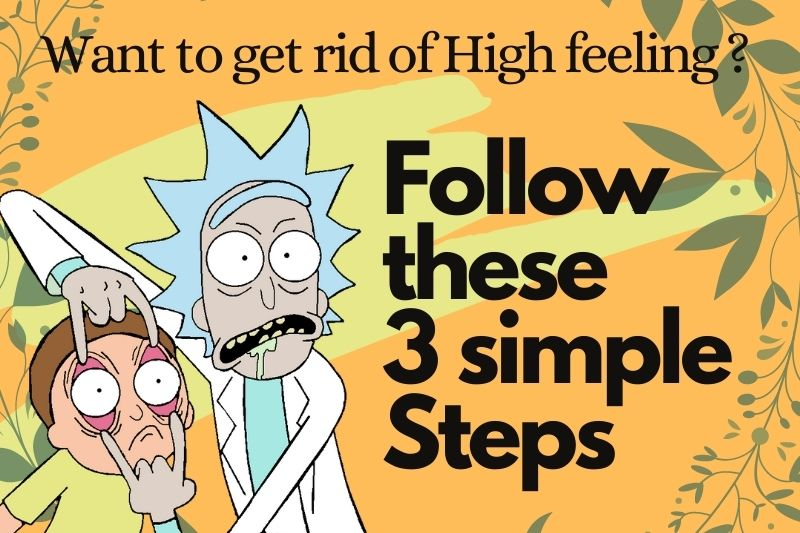 Steps to get sober from cannabis high